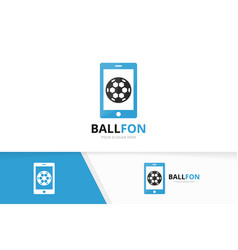 soccer and phone logo combination ball and vector image vector image