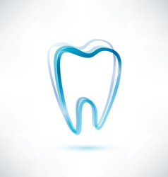 tooth symbol vector image vector image