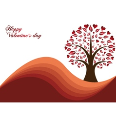 valentines tree vector image vector image