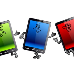 vertical tablet computer vector image