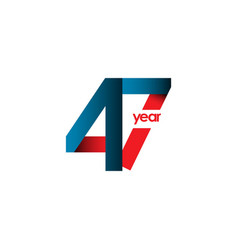 47 year anniversary template design vector