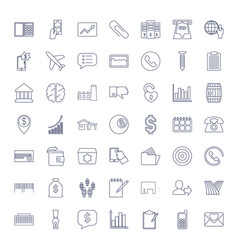 49 business icons vector