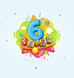 6 years vector image