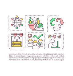 Agribusiness components concept icon with text vector