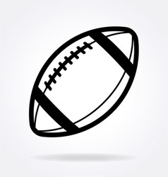 American football gridiron icon black and white vector