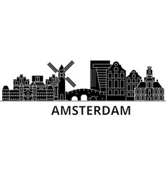 Amsterdam architecture city skyline travel vector