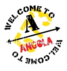 Angola stamp rubber grunge vector