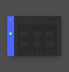 app sidebar menu concept wireframes screens vector image