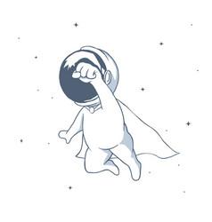 Astronaut flies like a superhero vector