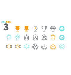 awards ui pixel perfect well-crafted thin vector image