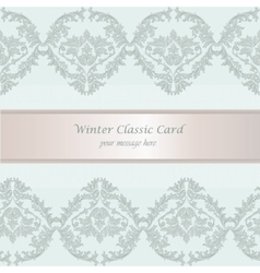 Baroque Winter Invitation card vector