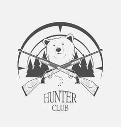 bear and gun vector image