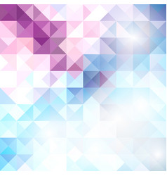 blue grid mosaic background creative design vector image