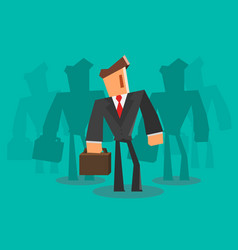 businessman team professional concept vector image