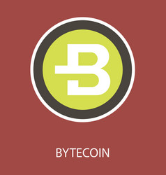 Bytecoin cryptocurrency virtual money symbol of vector