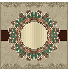 Circle vintage ornamental template vector