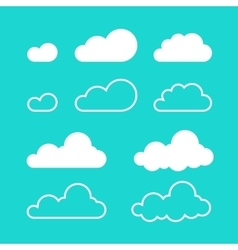 Clouds isolated on blue sky background vector image