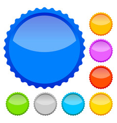 colorful badges with blank space vector image