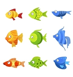Colorful Fish Set vector
