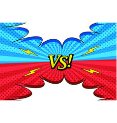 Comic versus bright horizontal background vector