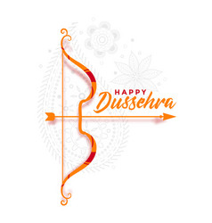 Cultural happy dussehra festival greeting vector