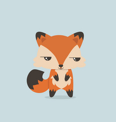 cute mini fox vector image