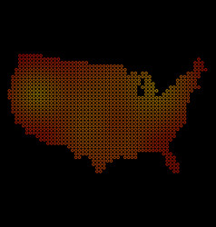dotted fire usa map vector image