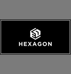 Ed hexagon logo design inspiration vector