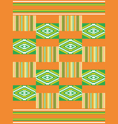 ethnic seamless pattern cloth kente vector image