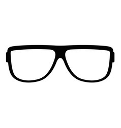 Eyeglasses without diopters icon simple style vector