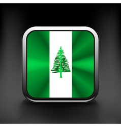 Flag of the country norfolk island vector image