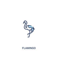 Flamingo concept 2 colored icon simple line vector