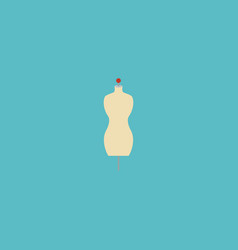 flat icon mannequin element vector image