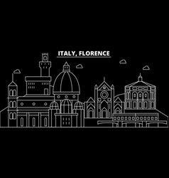 florence city silhouette skyline italy - florence vector image