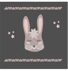 funny bunny retro style vector image