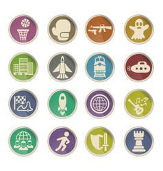 game genre icon set vector image