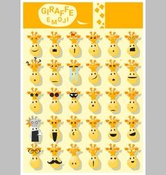 Giraffe emoji icons vector image vector image