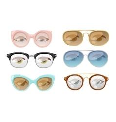 Glasses human eye vector image