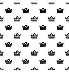 gold crown pattern seamless vector image
