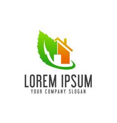 green real estate logo design concept template vector image