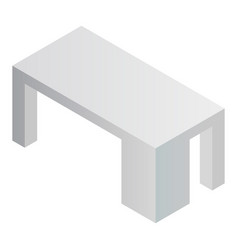 grey office table icon isometric style vector image