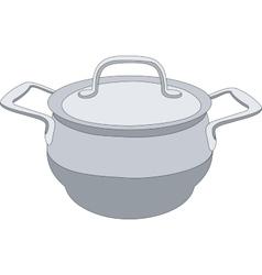 Grey pan 01 vector image