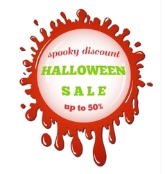 halloween sale red stain vector image