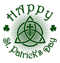 happy st patricks day celtic pattern vector image