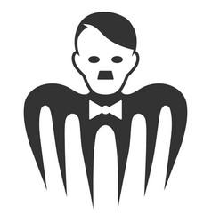Hitler croupier monster flat icon vector