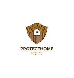 home security logo design vector image