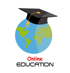 Icon education online vector