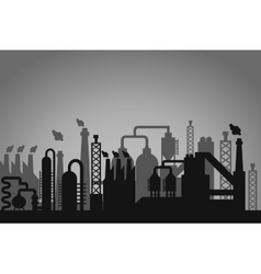 Industrial factory background vector
