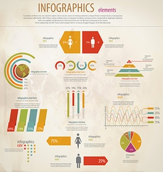 infographics retro vector image
