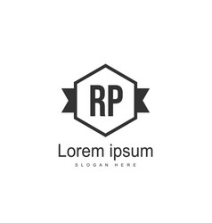Initial rp logo template minimalist letter logo vector